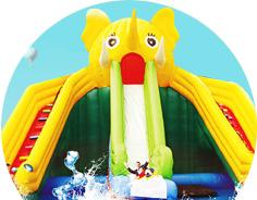 充气城堡/水上乐园儿童游乐设备厂家-红升游乐设备有10多年的实体运营经验