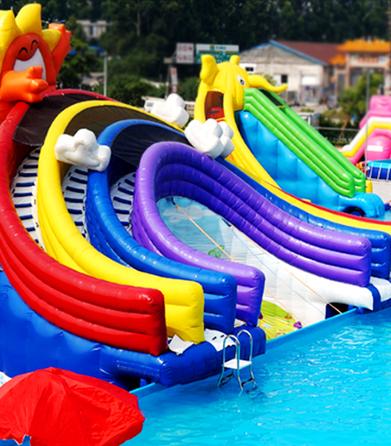 红升游乐设备-水上乐园彩虹水滑梯