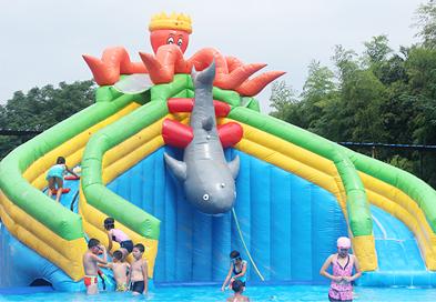 红升游乐设备-水上乐园章鱼水滑梯