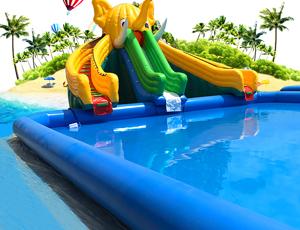 水上乐园大象水滑梯